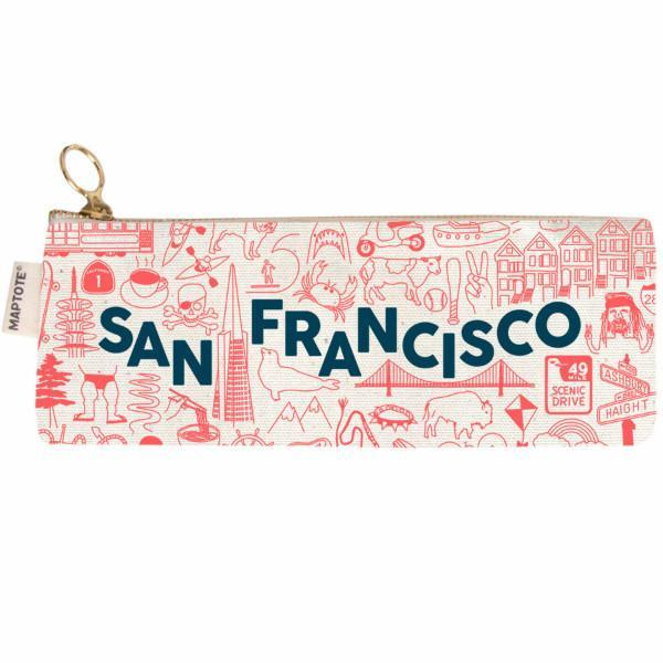 Maptote: San Francisco Pencil Pouch, Natural