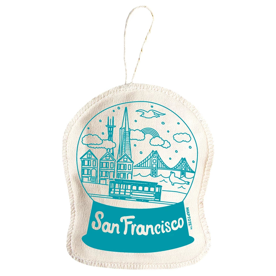 Maptote: San Francisco Ornament, Teal