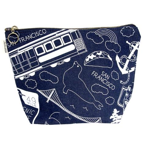 Maptote: San Francisco Makeup Pouch, Denim