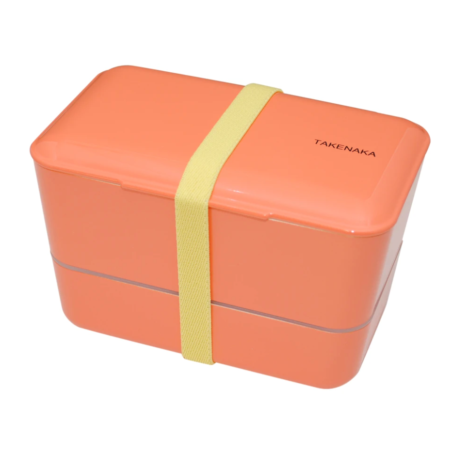 Takenaka Bento Box: Expanded Double, Coral
