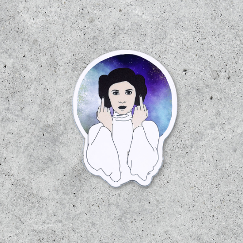Citizen Ruth: Princess Leia Middle Finger Sticker