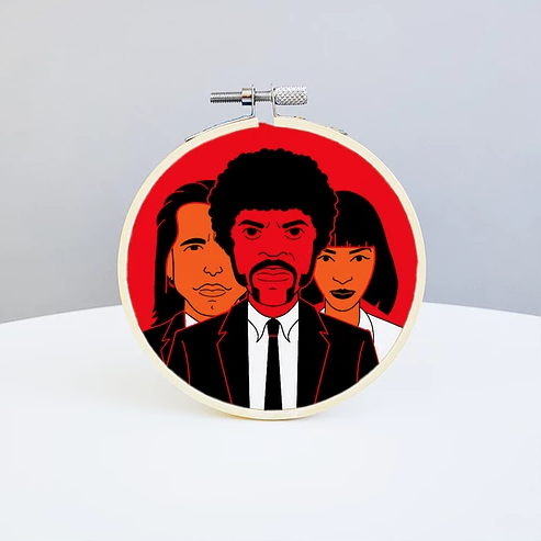 Holly Oddly: Pulp Fiction Embroidery Kit