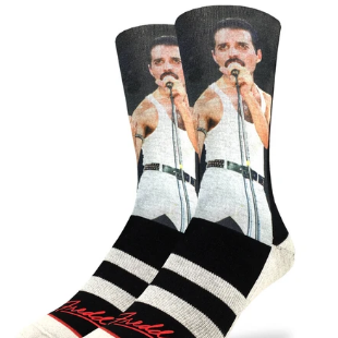 Good Luck Sock: Men's Freddie At Live Aid Socks
