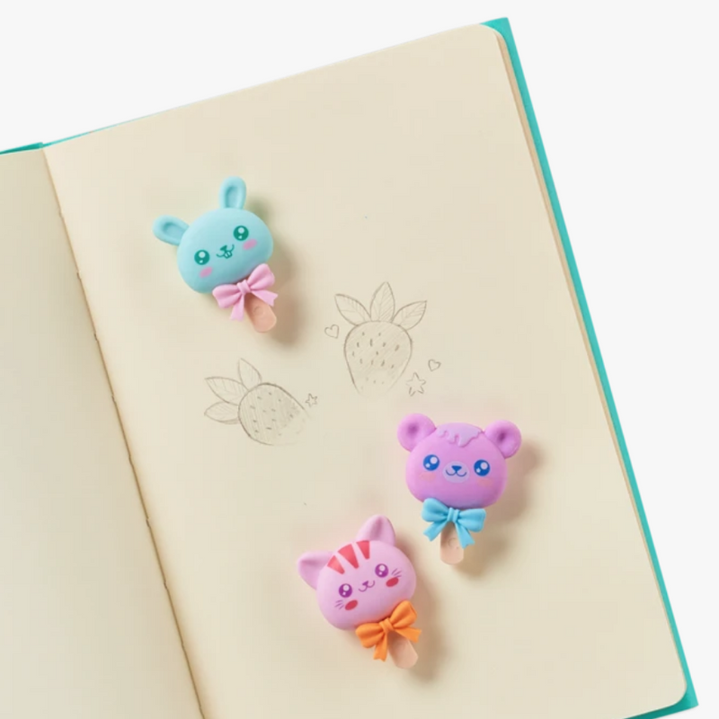 OOLY: Cutie Pops Scented Erasers, Set of 3