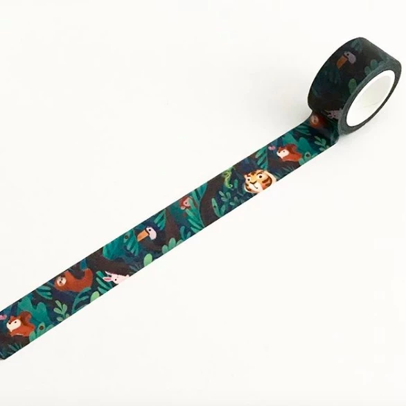 The Little Red House: Rainforest Animals Washi Tape