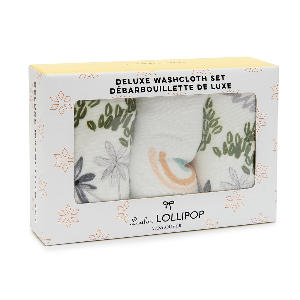 Loulou Lollipop: Muslin Washcloth, Sloth