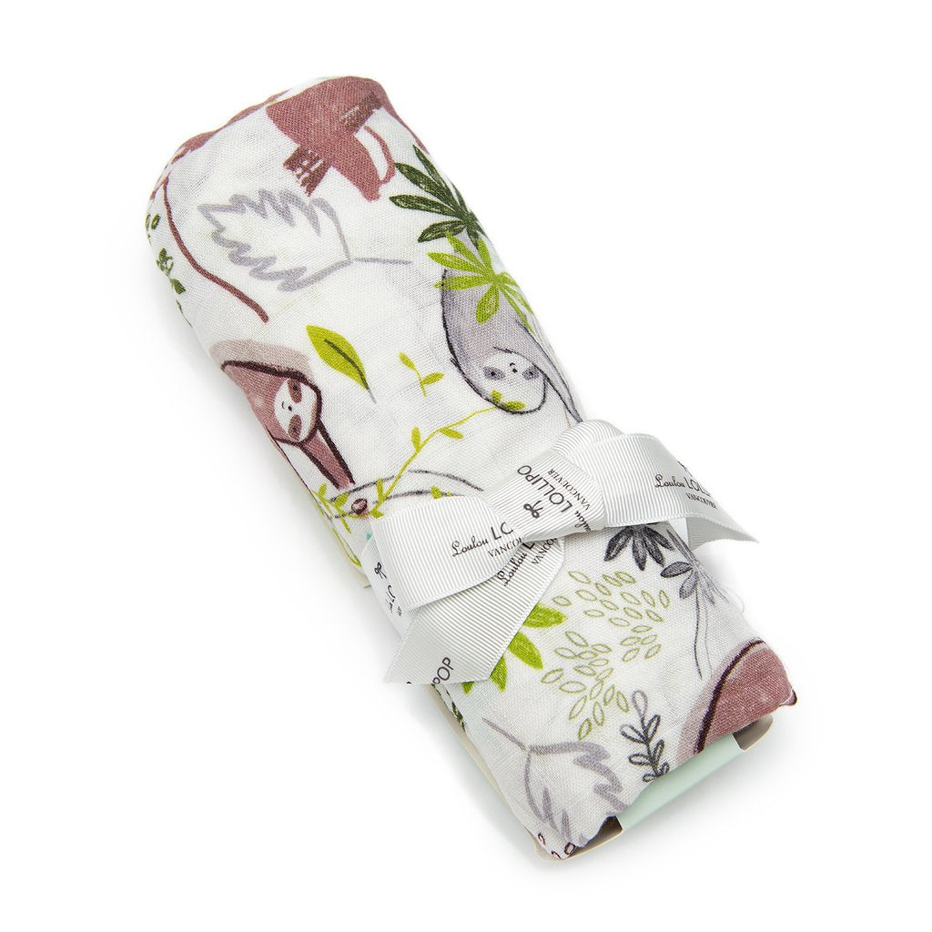 Loulou Lollipop: Muslin Swaddle, Sloth