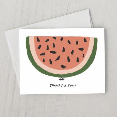Idlewild Co: Thanks a Ton Card, Boxed (Set of 8)