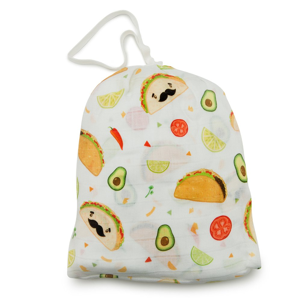 Loulou Lollipop: Fitted Crib Sheet, Tacos
