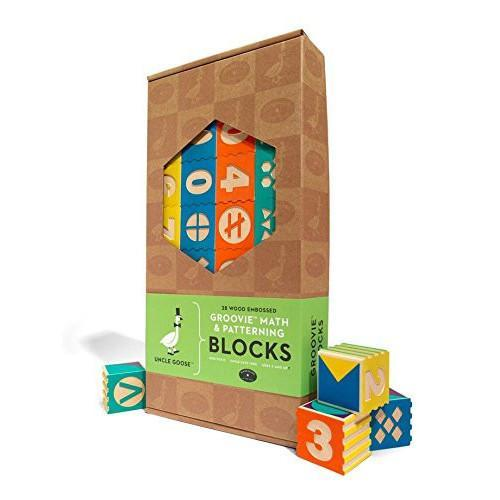 Uncle Goose: Groovie Math & Patterning Toy Blocks