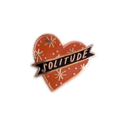 Stay Home Club: Red Solitude Lapel Pin