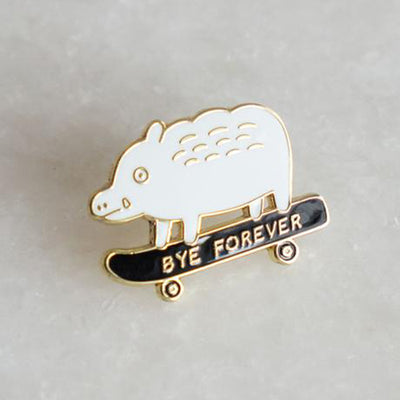 Stay Home Club: Bye Forever (Boar) Pin