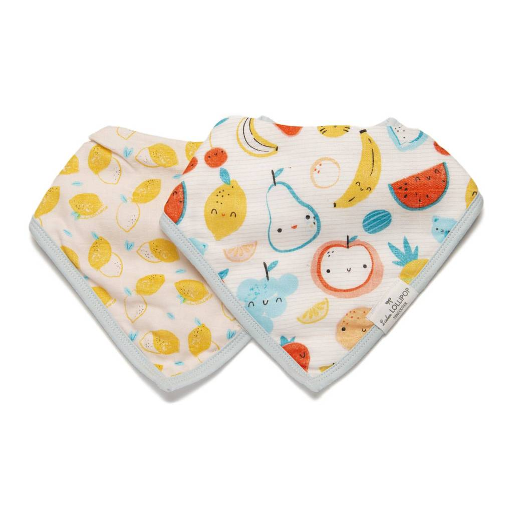 Loulou Lollipop: Muslin Bib Set, Cutie Fruits