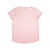 Womens Mermaid Print Cuffed Sleeve T-shirt, Powder Pink