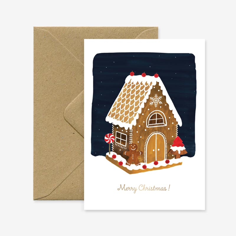All the Ways to Say: Gingerbread House Gold Foil