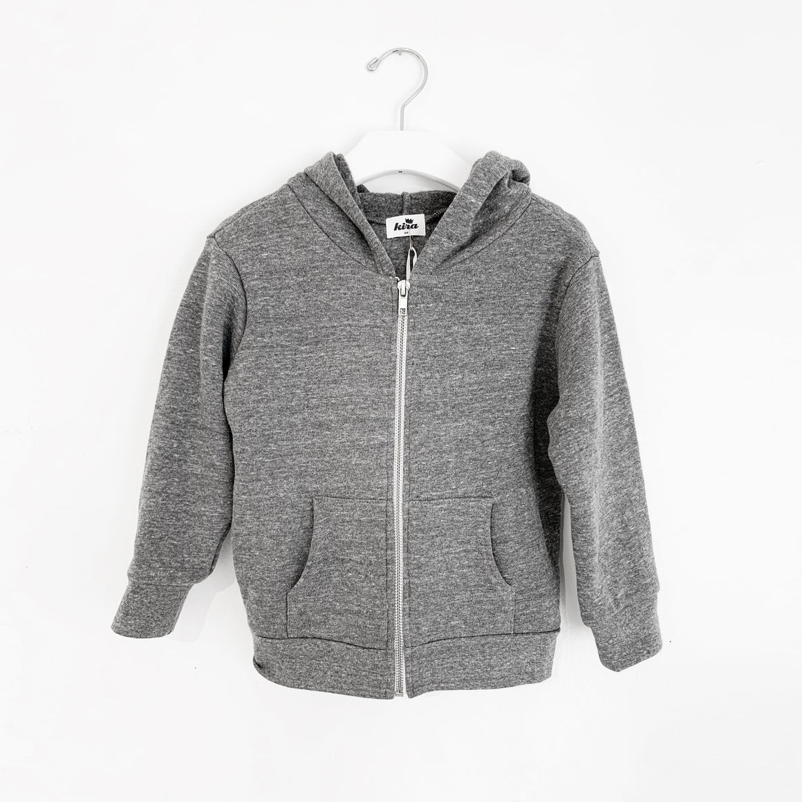 Yay Area Bear Zip Hooded Sweatshirt, Heather Grey