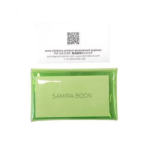 Samira Boon: Furoshiki Shiki Card Holder, Light Green