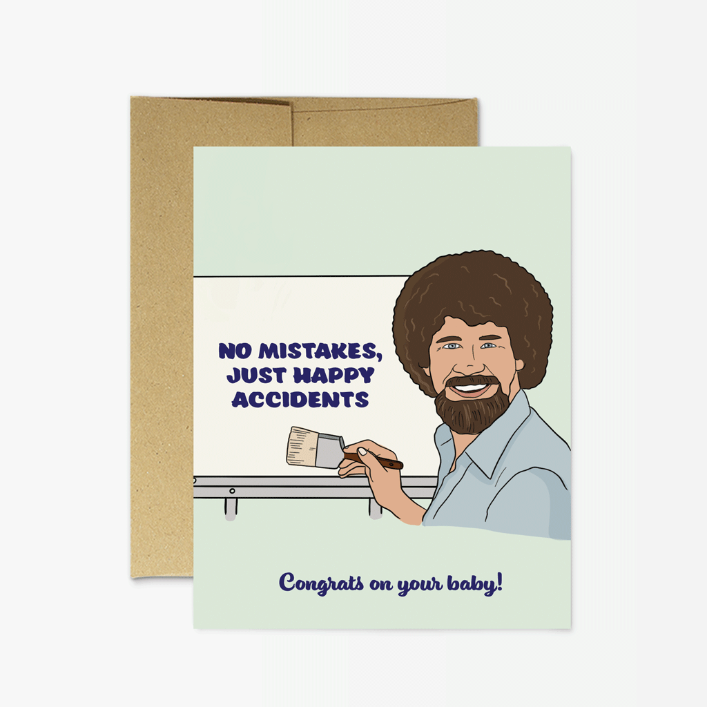 Party Mountain Paper Co.: Bob Ross Baby