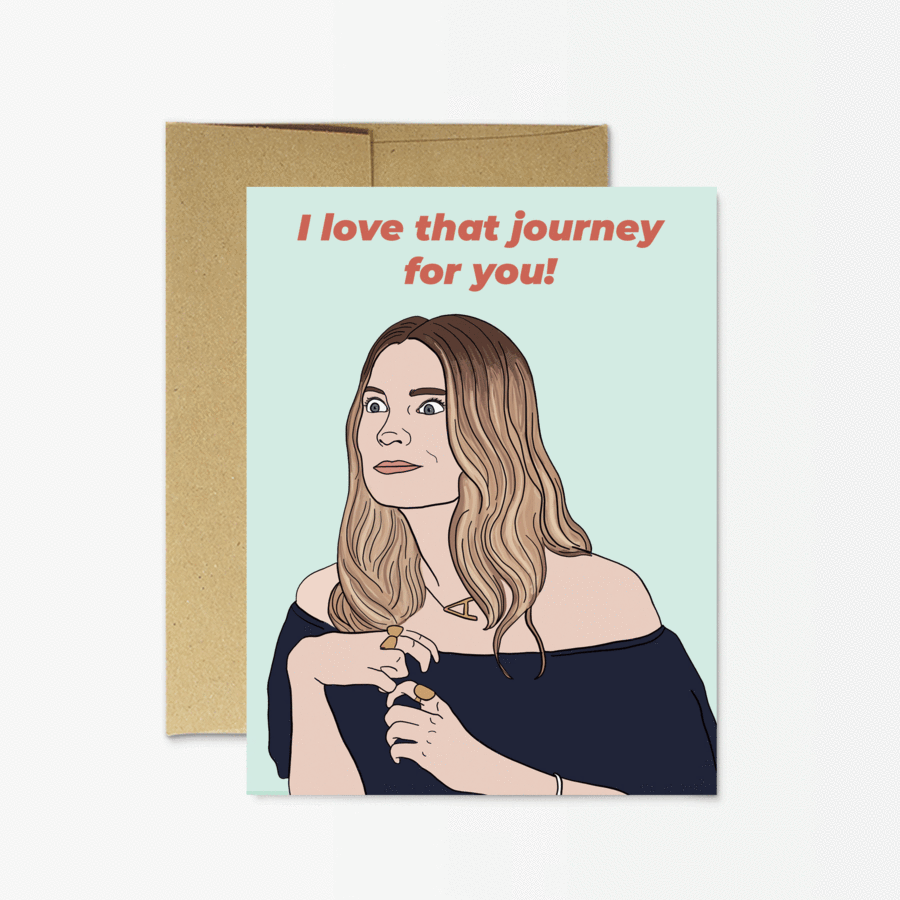 Party Mountain Paper Co.: Alexis Journey Card
