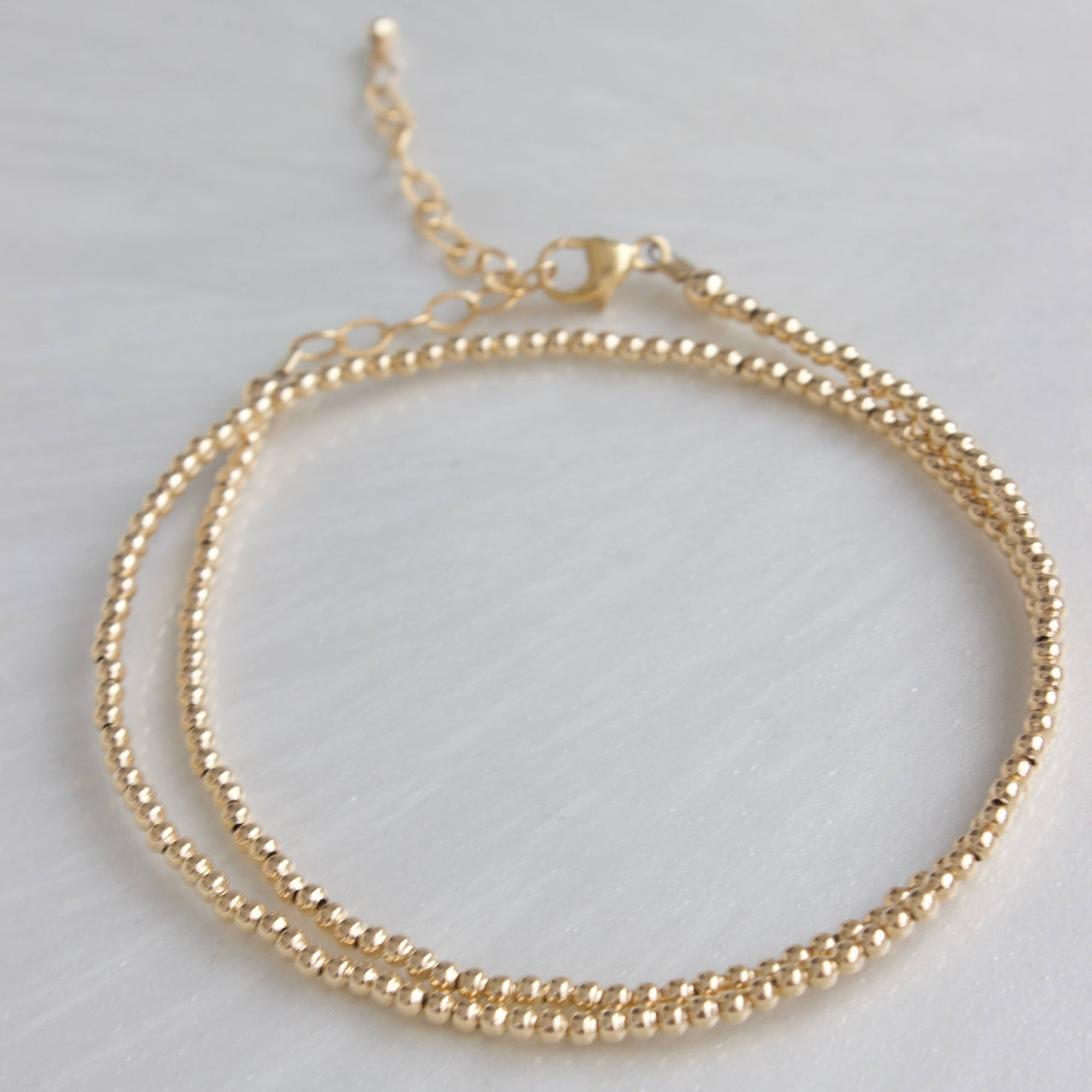 Katie Waltman Jewelry: 2mm Gold Filled Double Wrap Bead Bracelet