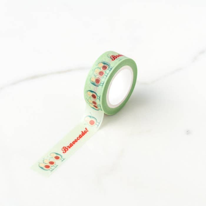 Ilootpaperie: Bravocado Standing Ovation Avocados Washi Tape