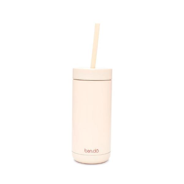Ban.Do: Stainless Steel Tumbler with Straw - Forever Busy