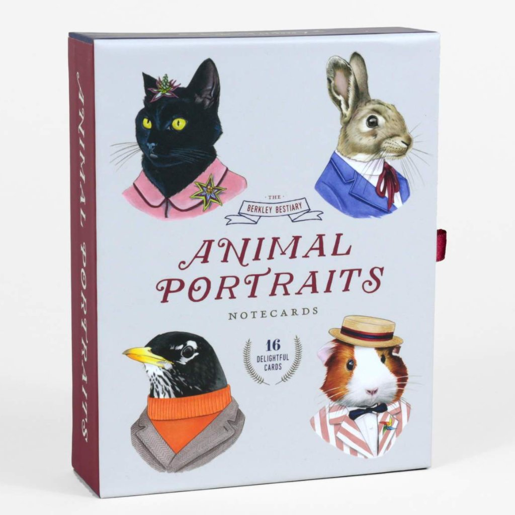 Animal Portraits Notecards (Set of 16)