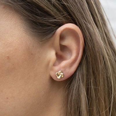 Rose Gypsy: Gold Bloom Studs