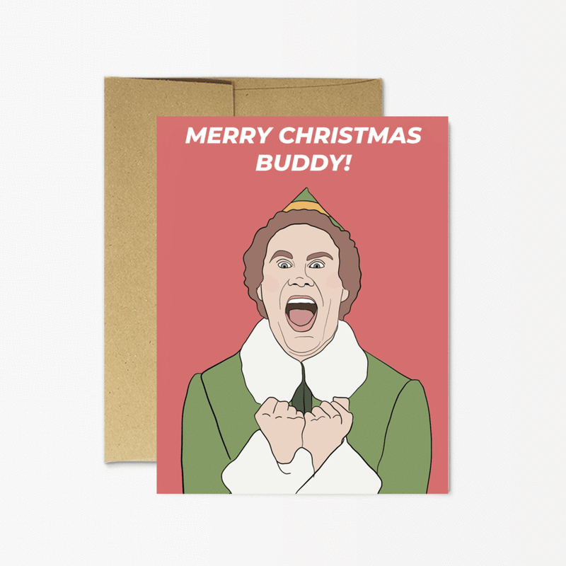 Party Mountain Paper Co.: Merry Christmas Buddy Card