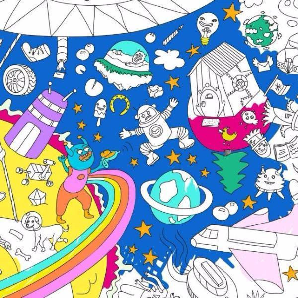 OMY: Coloring Poster, Cosmos