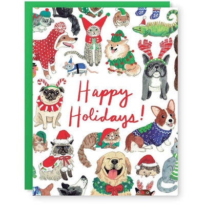 Cactus Club: Happy Holidays Animals Card