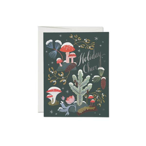 Red Cap Cards - Holiday Moss