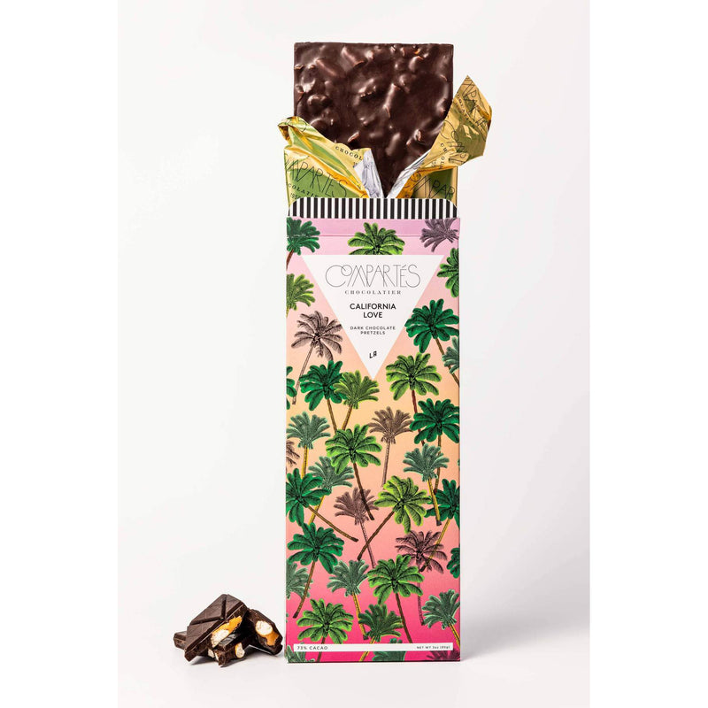 Compartes Chocolate: California Love Dark Chocolate Salted Pretzel Bar