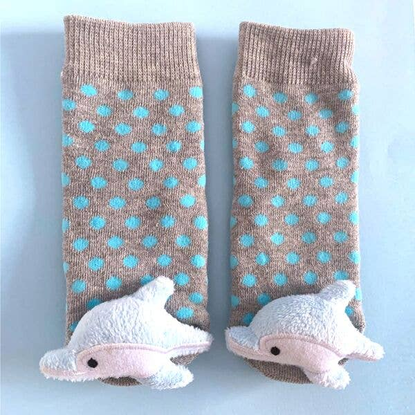 Liventi: Baby Dolphin Rattle Sock