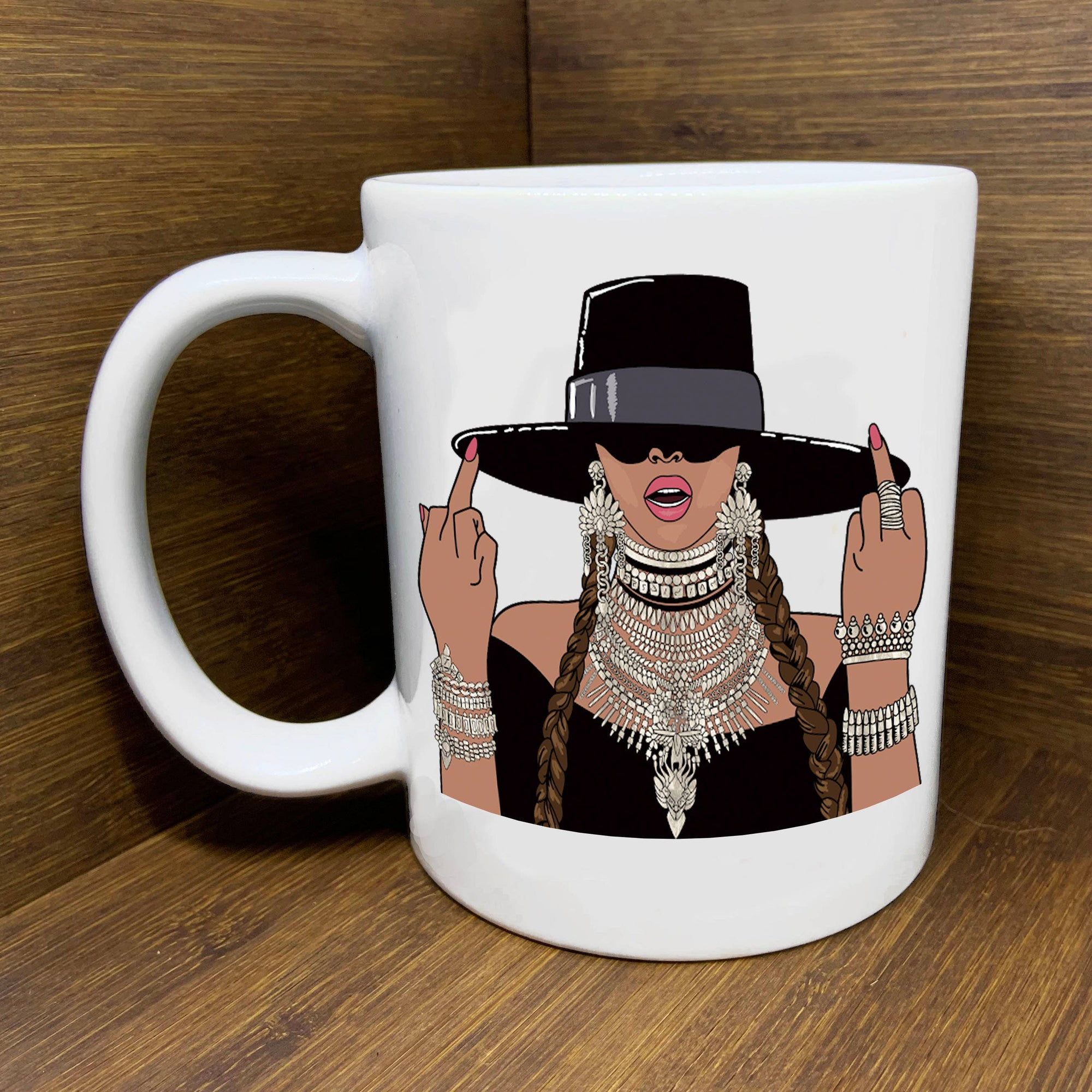 Citizen Ruth: Beyonce Middle Fingers Up Mug