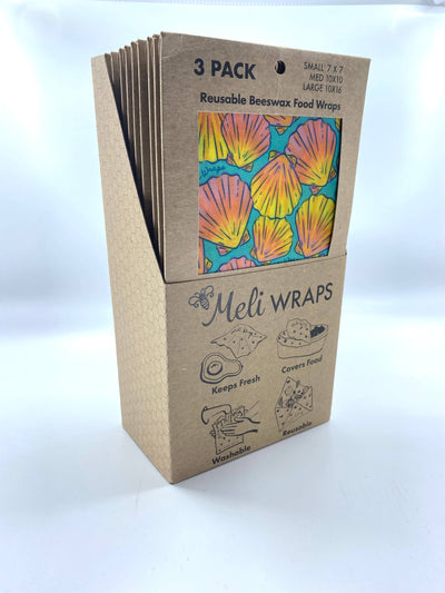 Meli Wraps: Meli Wraps 3 Pack in Shell Print