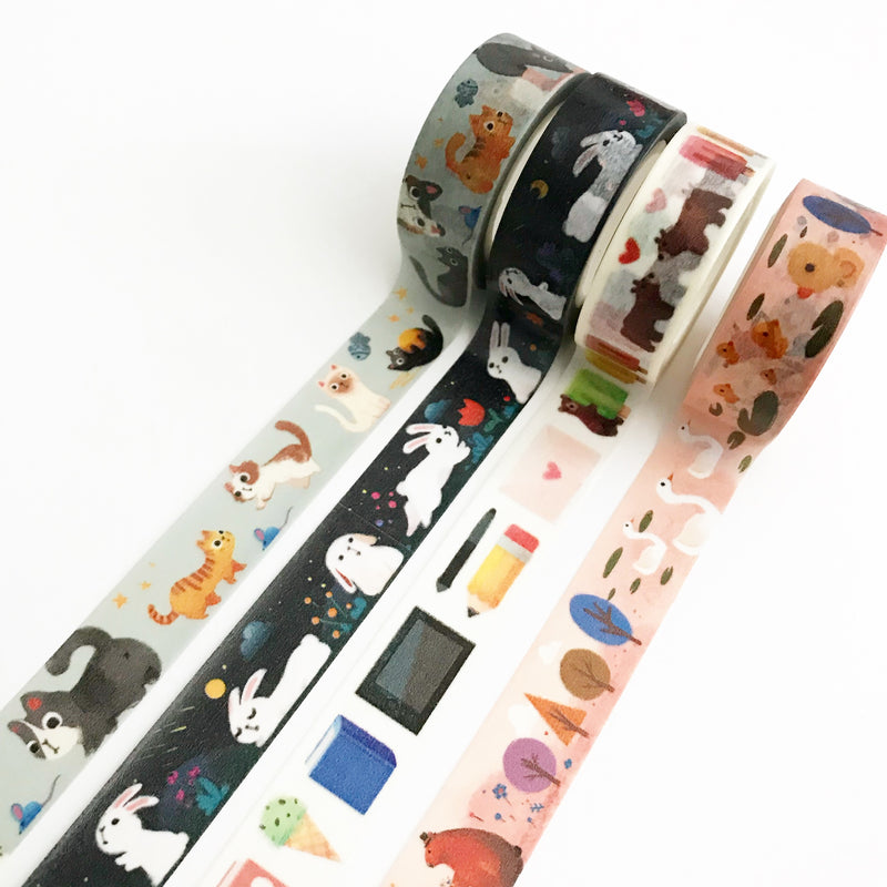 The Little Red House: Forest Animals Washi tape