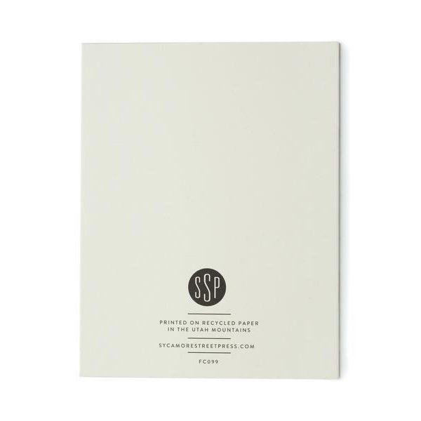 Sycamore Street Press: Welcome To The World Modern Floral Card