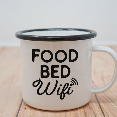 Enamel Co.: Food Bed Wifi Enamel Mug - 16 oz