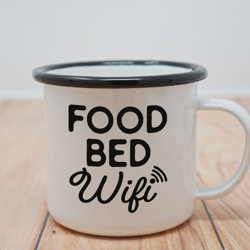 Enamel Co: Food Bed Wifi Enamel Mug