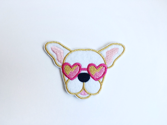 Design + Happiness: Frenchie Patch, White