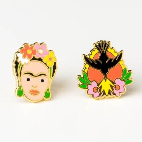 Yellow Owl Workshop: Frida Kahlo Milagro Earrings