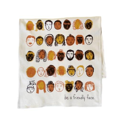 Calhoun & Co.: Friendly Faces Printed Tea Towel