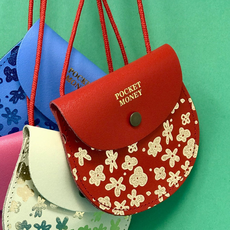 Ark Colour Design: Flower Pocket Money Purse, Red