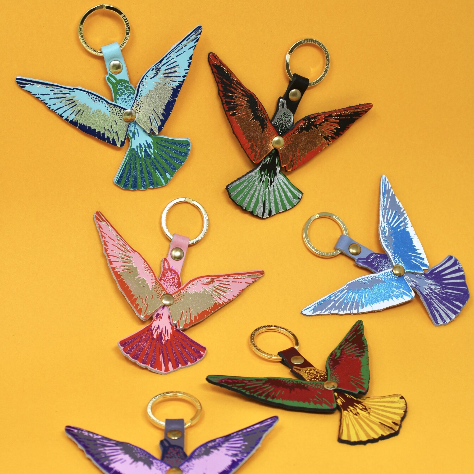 Ark Colour Design: Flying Bird Leather Keychain