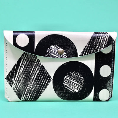 Ark Colour Design: Throw Some Shapes Leather Wallet, Cream/Black