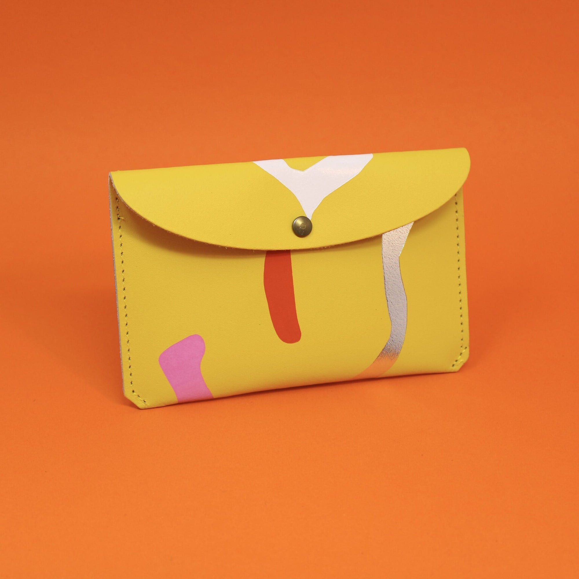 Ark Colour Design: Abstract Leather Wallet, Yellow