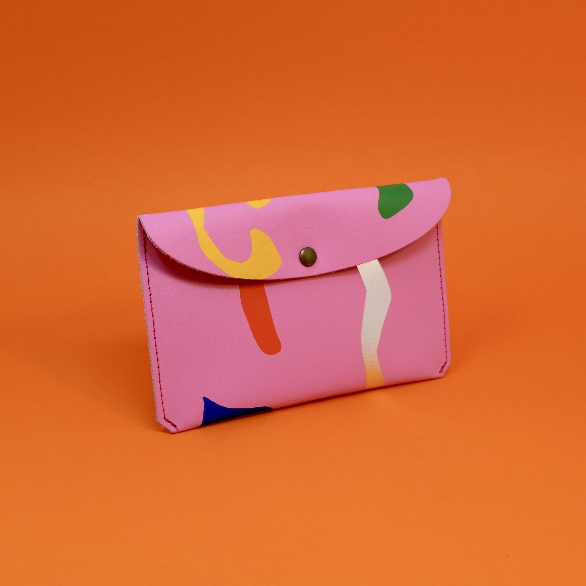 Ark Colour Design: Abstract Leather Wallet, Hot Pink