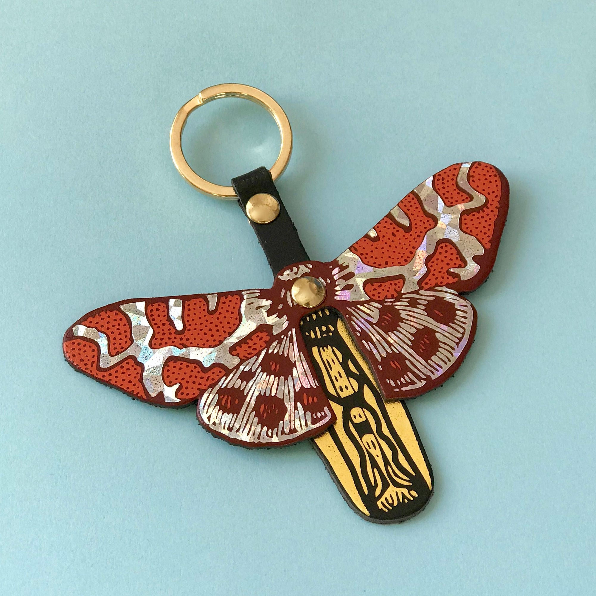 Ark Colour Design: Butterfly Key Fobs, Orange/Holographic