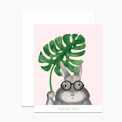 Dear Hancock: Bunny with Monstera